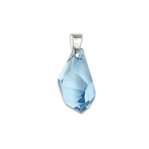 Stříbrný přívěsek s krystalem Swarovski Polygon Aquamarin
