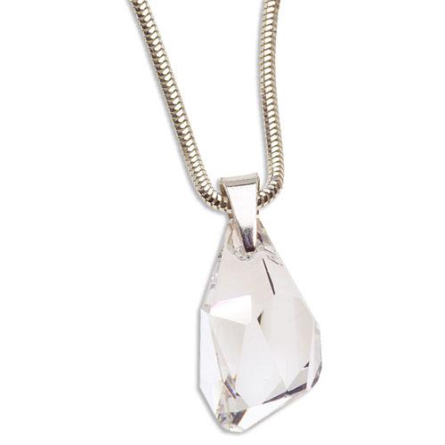 Stříbrný náhrdelník s krystalem Swarovski Polygon Crystal