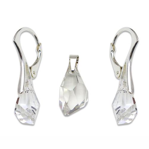 Stříbrný set s krystaly Swarovski Polygon Crystal