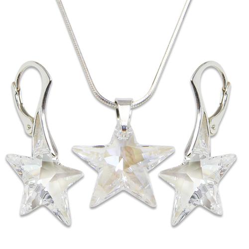 Stříbrná sada s krystaly Swarovski Star Crystal