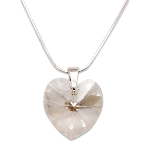 Stříbrný náhrdelník s krystalem Swarovski Moonlight