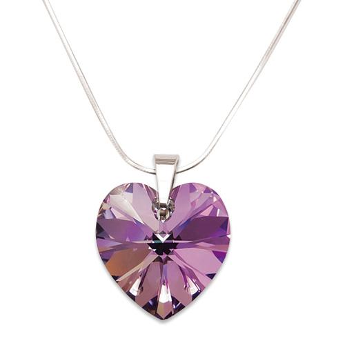 Stříbrný náhrdelník s krystalem Swarovski Light Vitrail