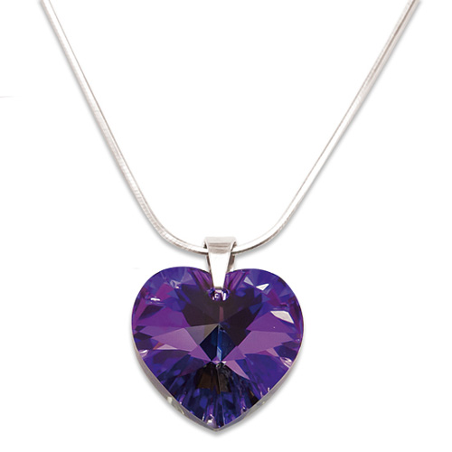Stříbrný náhrdelník s krystalem Swarovski Heliotrope  db4b55fdd15