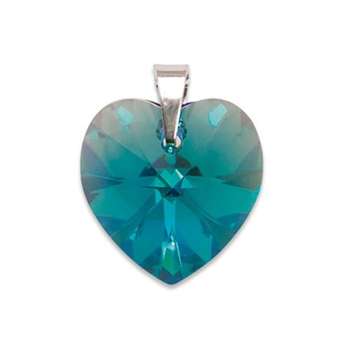 Stříbrný přívěsek s krystalem Swarovski Blue Zircon