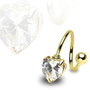 Pozlacený piercing Spirála SP01024
