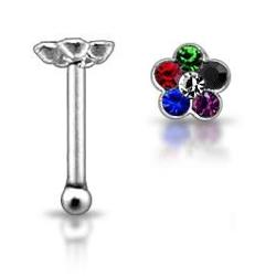 Stříbrný piercing do nosu N01019