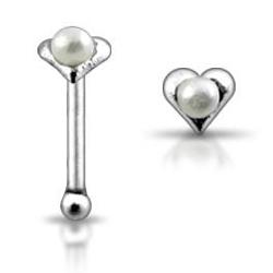 Stříbrný piercing do nosu N01028