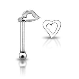 Stříbrný piercing do nosu N01098