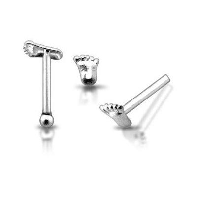 Stříbrný piercing do nosu N01023