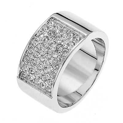 Prsten s krystaly Swarovski Oliver Weber Motion 2053