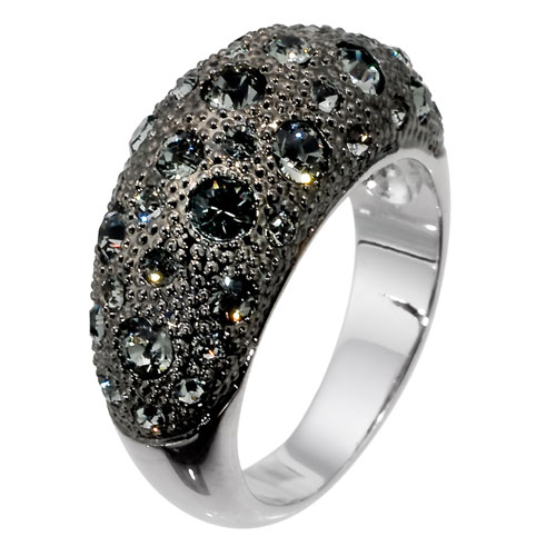 Prsten s krystaly Swarovski Oliver Weber Blame 2424-BLA