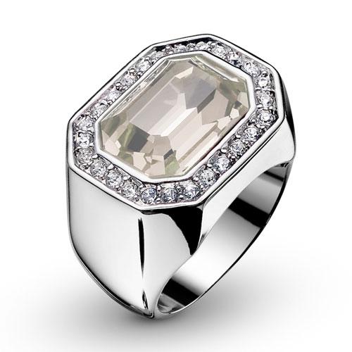 Prsten s krystaly Swarovski Oliver Weber Castello 2432-001
