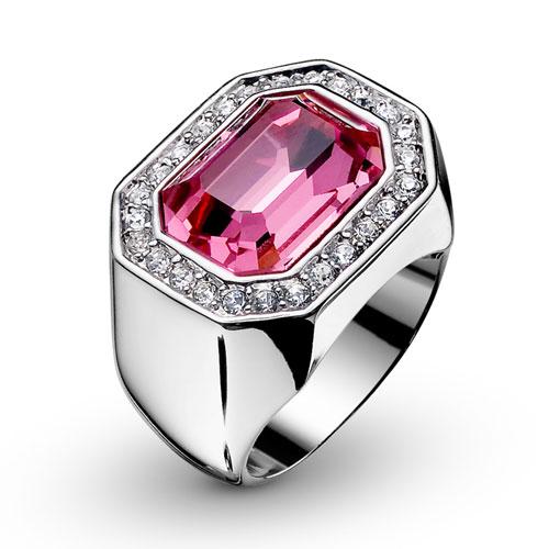 Prsten s krystaly Swarovski Oliver Weber Castello 2432-209