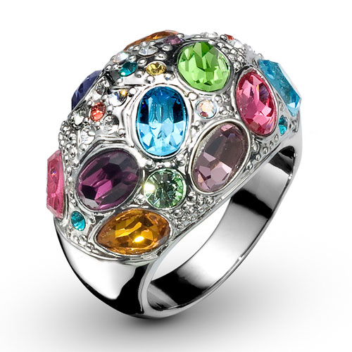 Prsten s krystaly Swarovski Oliver Weber Orient 2433