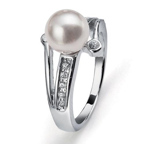 Prsten s krystaly Swarovski Oliver Weber Pearl 41051