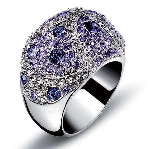 Prsten s krystaly Swarovski Oliver Weber Mystery 2445