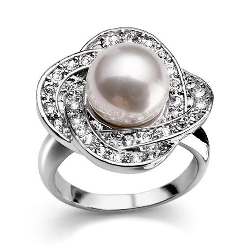 Prsten s krystaly Swarovski Oliver Weber Commit 2449