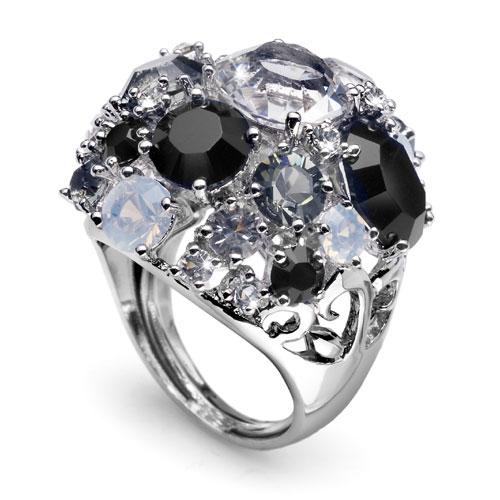 Prsten s krystaly Swarovski Oliver Weber Spoty 2453-280