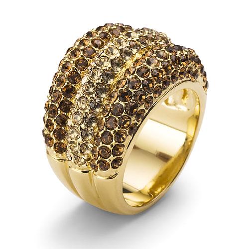 Prsten s krystaly Swarovski Oliver Weber Nobel 2454G