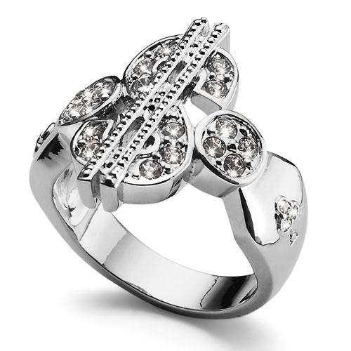 Prsten s krystaly Swarovski Oliver Weber Dollar 2455