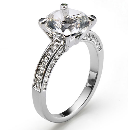 Prsten s krystaly Swarovski Oliver Weber Princess 41064-001