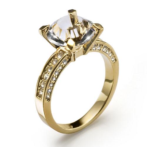 Prsten s krystaly Swarovski Oliver Weber Princess 41065G