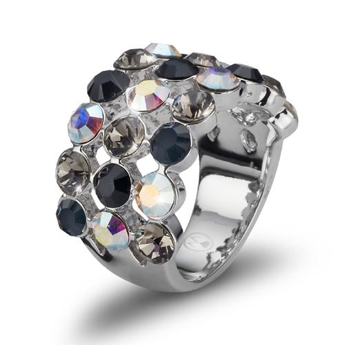 Prsten s krystaly Swarovski Oliver Weber Drool 2462-215