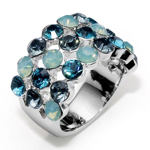 Prsten s krystaly Swarovski Oliver Weber Drool 2462-379