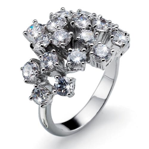 Prsten s krystaly Swarovski Oliver Weber Bling 2473