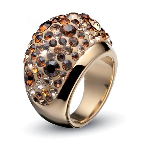 Prsten s krystaly Swarovski Oliver Weber Couleur 2483G