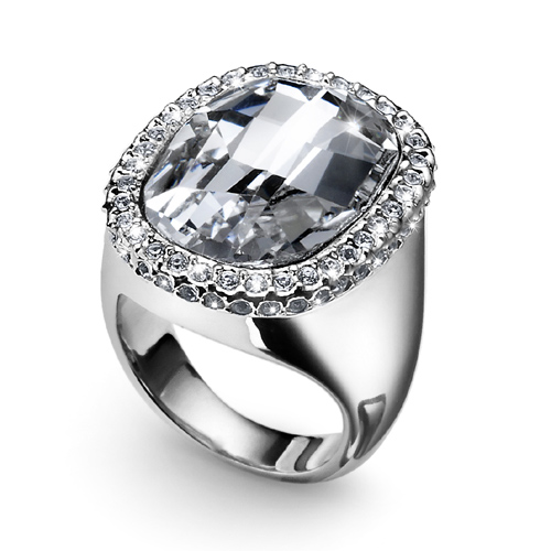 Prsten s krystaly Swarovski Oliver Weber Graphic Crystal