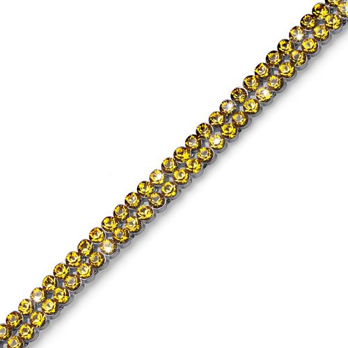 Náramek s krystaly Swarovski Oliver Weber Treasure Sunflower