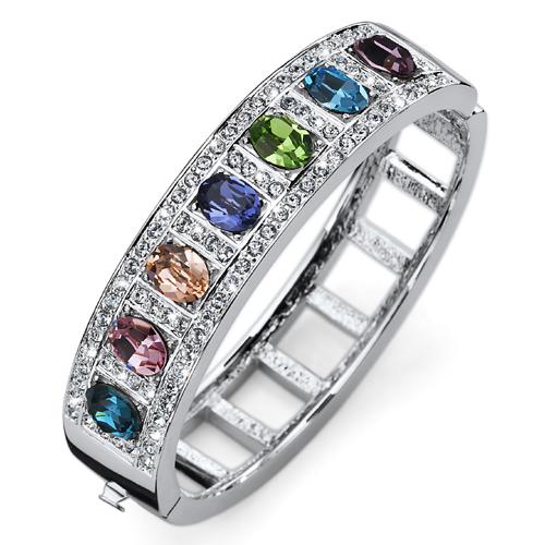 Náramek s krystaly Swarovski Oliver Weber Rainbow Multi