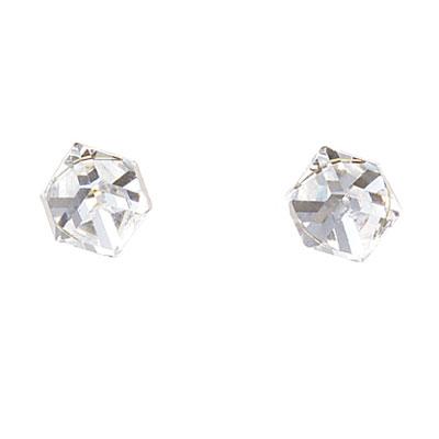 Náušnice s krystaly Swarovski Oliver Weber Cubo 21015-001