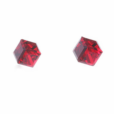 Náušnice s krystaly Swarovski Oliver Weber Cubo 21015-227