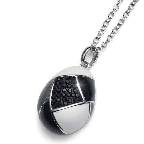 Stříbrný přívěsek s krystaly Swarovski Oliver Weber Choice 7307-BLA