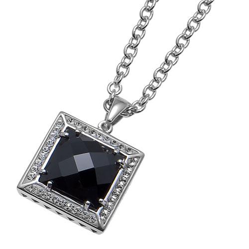 Stříbrný přívěsek s krystaly Swarovski Oliver Weber Format 7586-BLA