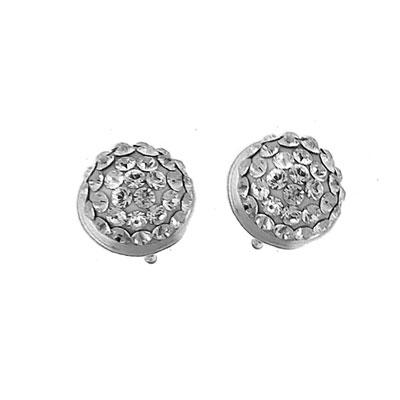 Stříbrné náušnice s krystaly Swarovski Oliver Weber Half Ball 62008-001