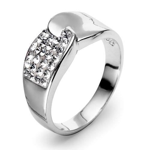 Stříbrný prsten s krystaly Swarovski Oliver Weber Set 7721-001