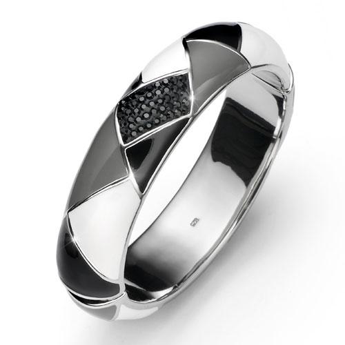 Stříbrný náramek s krystaly Swarovski Oliver Weber Choice 7806-BLA