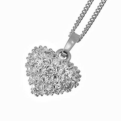 Přívěsek s krystaly Swarovski Oliver Weber Full Heart 11024