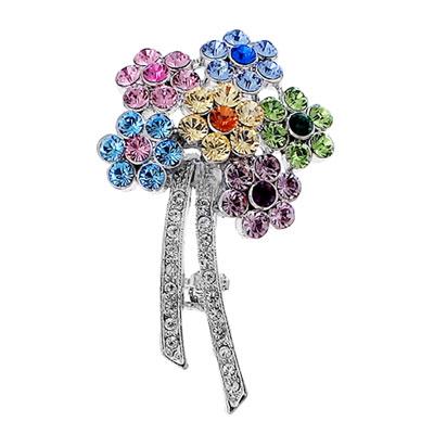 Ozdobná brož s krystaly Swarovski Oliver Weber Flowers 58001