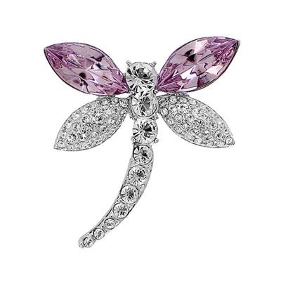 Ozdobná brož s krystaly Swarovski Oliver Weber Libella 58006-223