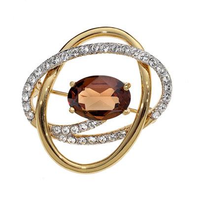 Ozdobná brož s krystaly Swarovski Oliver Weber Monte 58016G