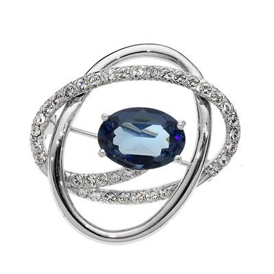 Ozdobná brož s krystaly Swarovski Oliver Weber Monte 58016R