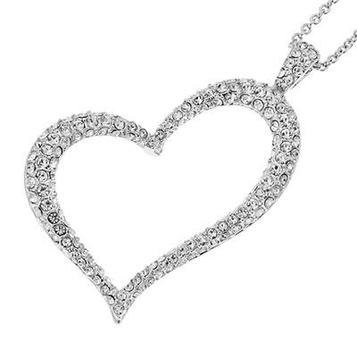 Přívěsek s krystaly Swarovski Oliver Weber Swing Heart 8656