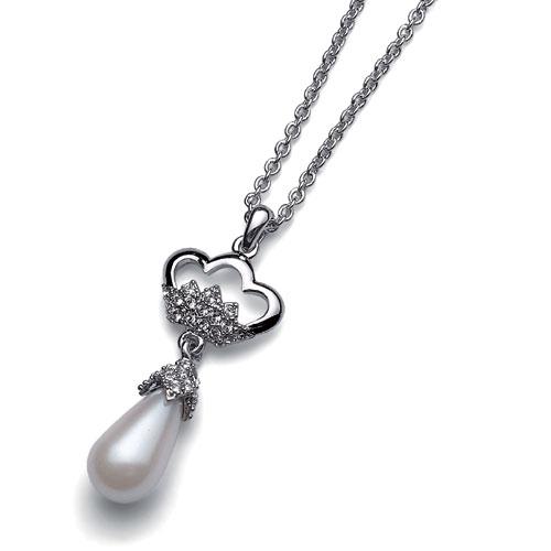 Přívěsek s krystaly Swarovski Oliver Weber Crown Pearl 9150