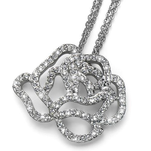 Přívěsek s krystaly Swarovski Oliver Weber Rose 9254