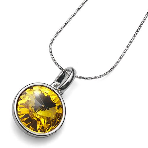 Přívěsek s krystaly Swarovski Oliver Weber Fun Sunflower