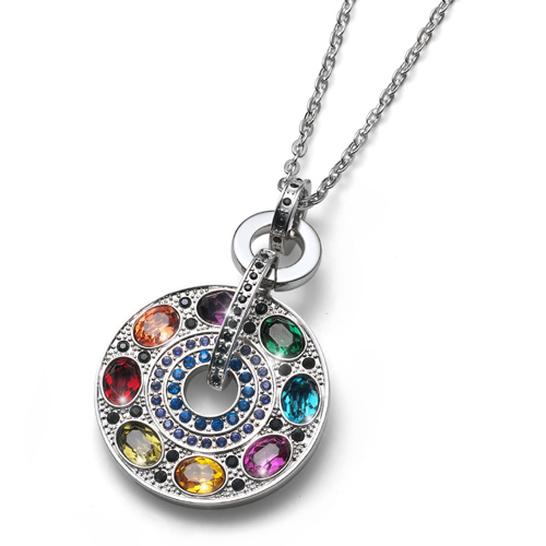 Přívěsek s krystaly Swarovski Oliver Weber Rainbow Multi